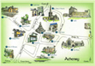 Illustrated map of Athenry